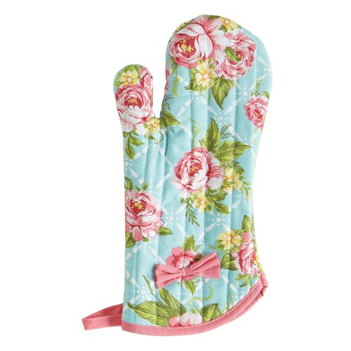 Jessie Steele Cottage Kitchen Rose Oven-Mitt with Bow