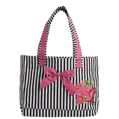 Jessie Steele Parlor Floral Tote Bag with Bow