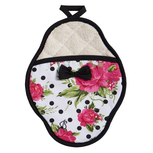 Jessie Steele Dotted Parlor Floral Scalloped Pot-Mitt