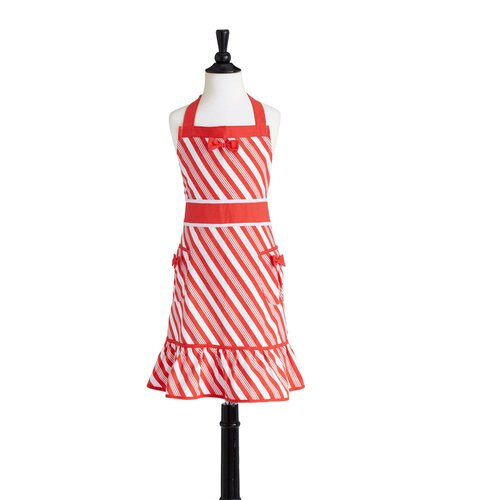 Candy Cane Stripe Children's Bib Doris Apron
