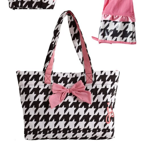 Jessie Steele Giant Houndstooth Bow Tote Bag