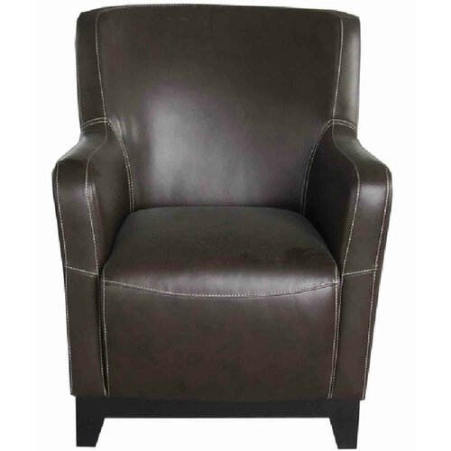 Emerald Home Furnishings Amanda Accent Chair in Faux Leather