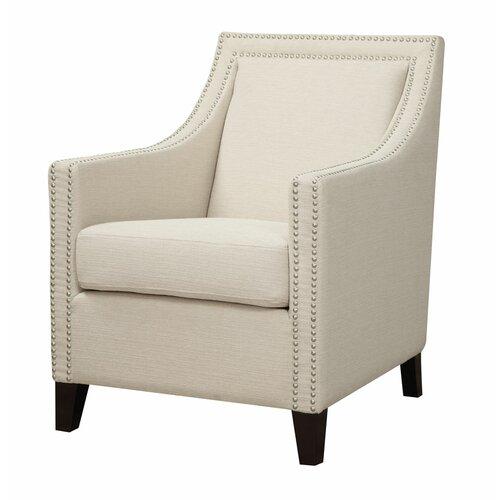 Emerald Home Furnishings Janelle Nailhead Arm Chair