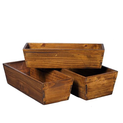 Antique Revival Rectangular Nesting Planters (Set of 3)