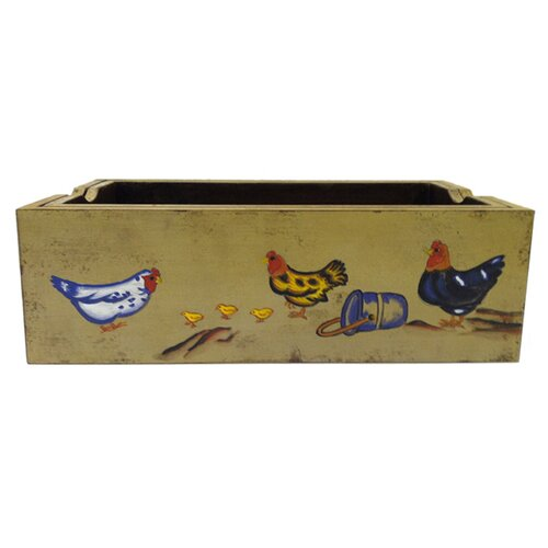 Antique Revival Rectangular Farm Art Planter