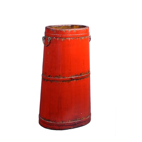 Wooden Tall Bucket with Iron Handles