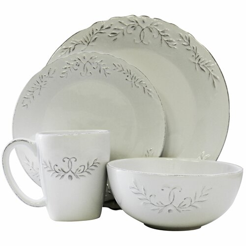 Bianca Laurel 16 Piece Dinnerware Set