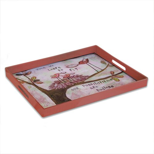 American Atelier Day Dreams 'Learn To Fly' Rectangular Serving Tray