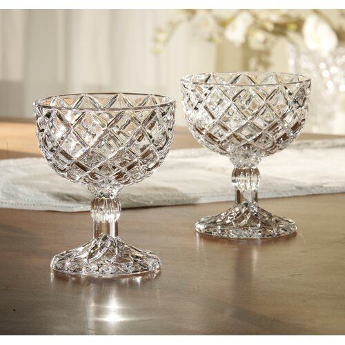 "Fifth Avenue Crystal Muirfield 8.3"" Pedestal Compote"