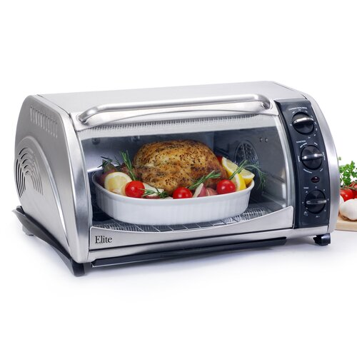 Maximatic Elite Gourmet 0.7-Cubic Foot Toaster Oven