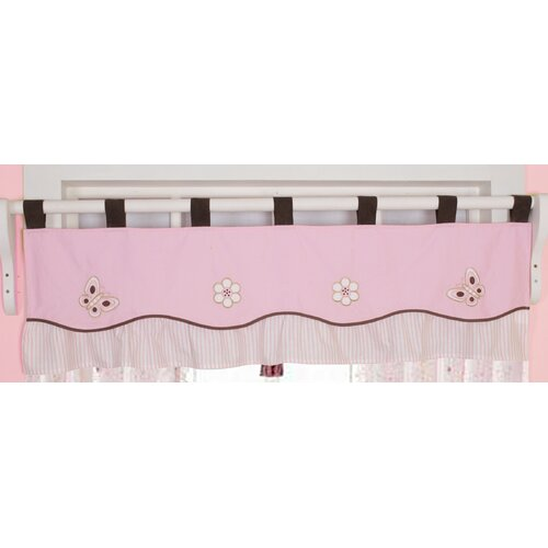 """Geenny Butterfly Tab Top Tailored 58"""" Curtain Valance"""