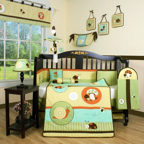 Geenny Boutique Garden Paradise 13 Piece Crib Bedding Set