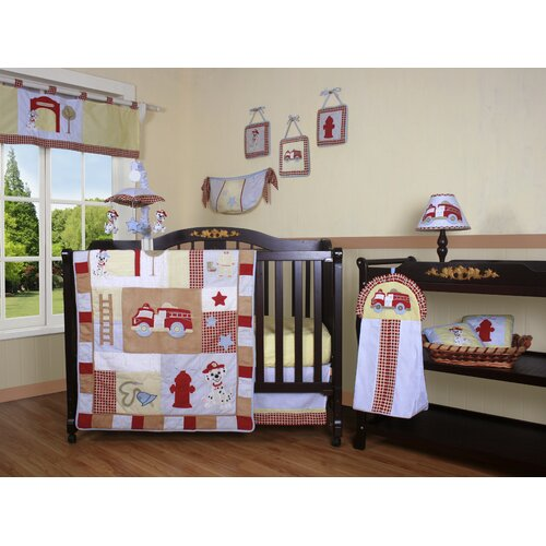 Geenny boutique fire truck 13 piece crib bedding set reviews wayfair - Geenny crib bedding sets ...