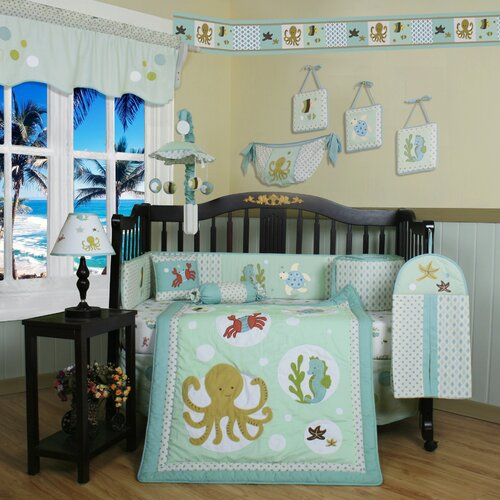 Geenny Boutique Sea World Animal 13 Piece Crib Bedding Set