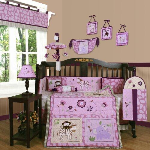 Geenny boutique animal kingdom 13 piece crib bedding set reviews wayfair - Geenny crib bedding sets ...