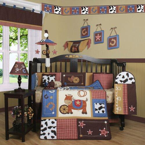 Geenny Boutique Horse Cowboy  Piece Crib Bedding Set