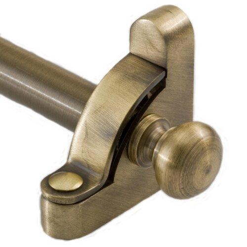 "Zoroufy Heritage 48"" Solid Stair Rod Set Regular Brackets Round Finial"