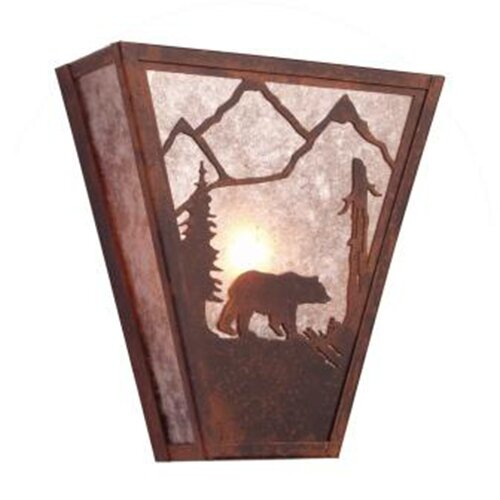 Steel Partners Bear Vegas 1 Light Wall Sconce
