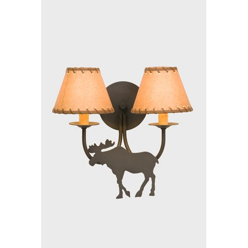 Steel Partners Moose Double Light Wall Sconce