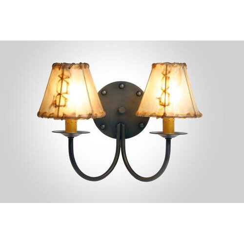 Steel Partners Rivets 2 Light Wall Sconce