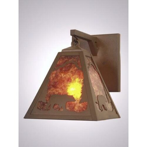 Steel Partners Bear Timber Ridge Hanging 1 Light Wall Sconce