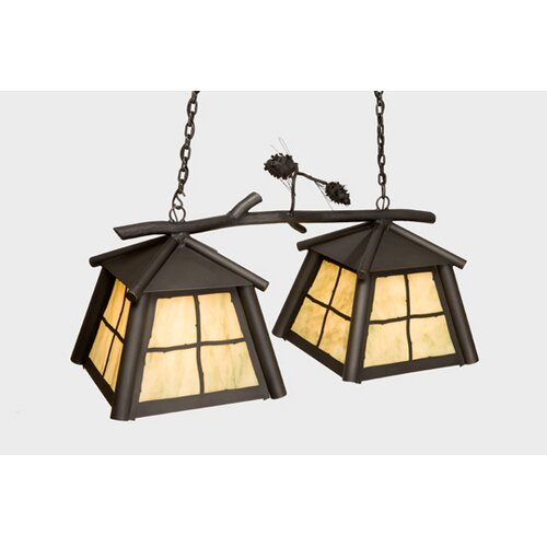Steel Partners Saranac Double Anacosti Light Pendant