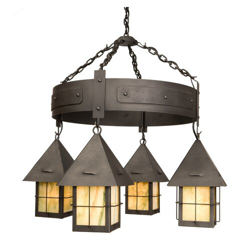 Steel Partners Lapaz 4 Light Round Chandelier