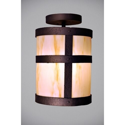 Steel Partners Portland 1 Light Semi Flush Mount