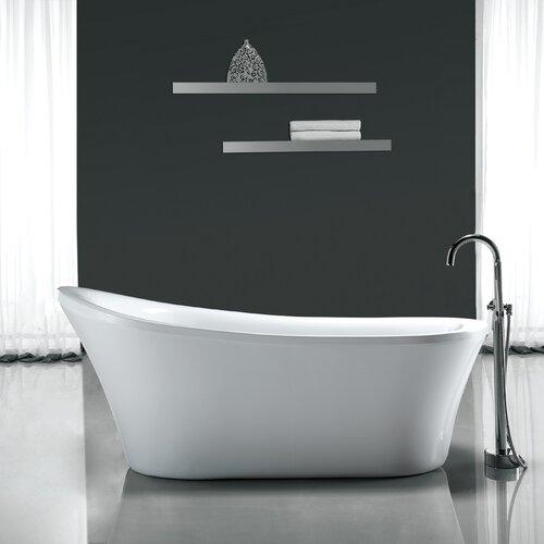 "Ove Decors Rachel 70'' x 34"" Acrylic Freestanding  Slipper Tub"