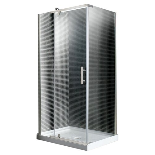 Ove Decors 40 Corner Glass Pivot Door Shower Enclosure