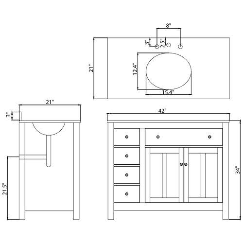 "Ove Decors Lyon 42"" Single Bathroom Vanity Set"
