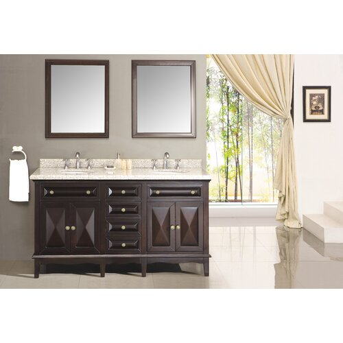 "Ove Decors Venice 60"" Double Bathroom Sink Vanity Set"