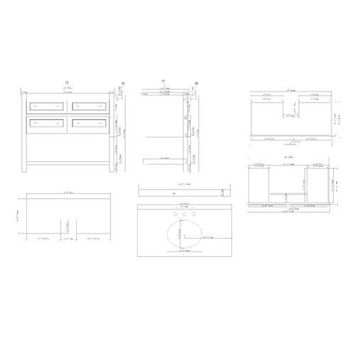 "Ove Decors Berlin 42"" Single Bathroom Vanity Set"