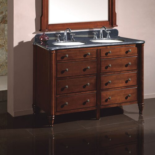 Moscony White 60 Inch Double Sink Vanity Set .