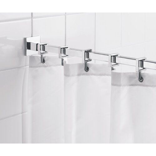 "... Square 98"" Max Shower Rod with Curtain Hooks & Reviews 