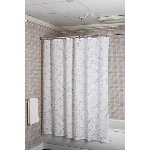 Rings Polyester Fabric Shower Curtain
