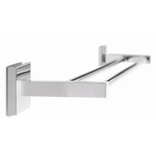 "Croydex Brompton Brass 26"" Wall Mounted Double Towel Bar"