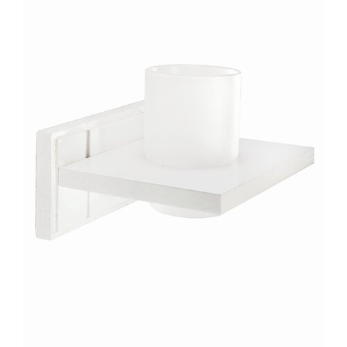 Croydex Maine White Wood Tumbler Holder