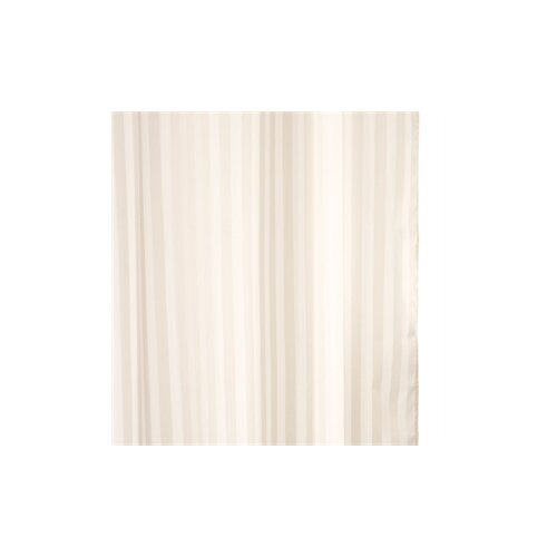 Croydex Woven Stripe Polyester Textile Shower Curtain