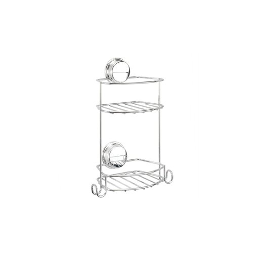 Croydex Stick 'N' Lock Compact 2 Tier Storage Basket