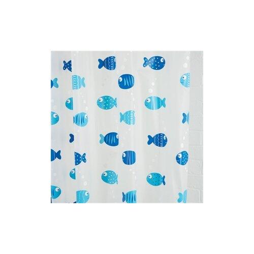 Wiggly Fish Vinyl Shower Curtain