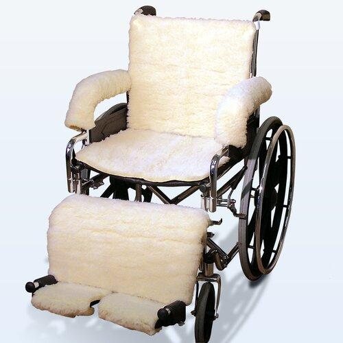 NYOrtho Sheepskin Wheelchair Covers in Cream