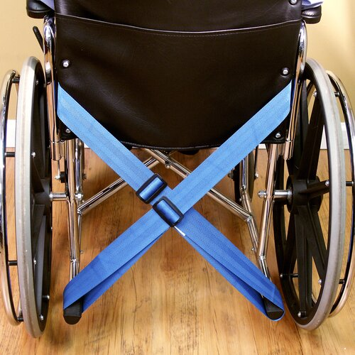 NYOrtho Wheelchair Belt with Adjustable Stable-Loop in Royal blue