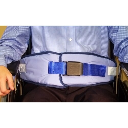 Wheelchair Resident-Release Cushion Belt with Velcro Closure with Red Loop