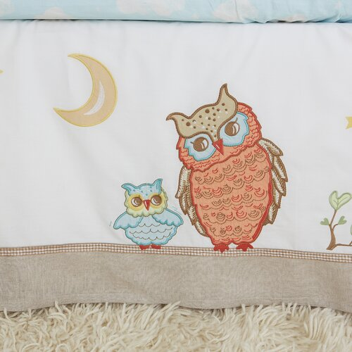 Baby Owls Crib Bed Skirt