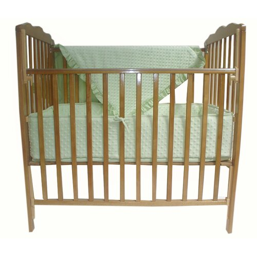 Heavenly Soft 3 Piece Minky Dot Mini Crib Set