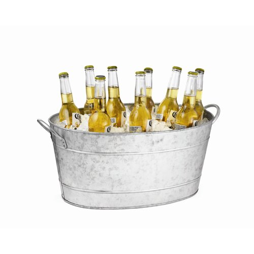 Tablecraft Galvanized Steel Oval Beverage Tub