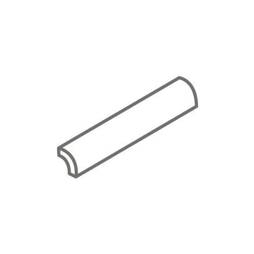 """Interceramic Montreaux 6"""" x 1"""" Quarter Round Tile Trim in Blanc"""