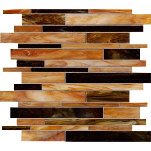 Marazzi Catwalk Random Sized Glass Mosaic in Chocolate Clog