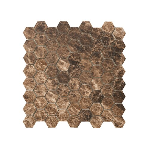 Timeless Collection Hexagon Mosaic in Emperador Mocha